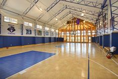 This plus square foot extravaganza is a kids' fantasy, offering an indoor pool with second story slide, full basketball court, arcade, and bowling alley. Usc Basketball, Basketball Shooting Drills, Indoor Basketball Hoop, Outdoor Basketball Court, Basketball Tricks, Basketball Practice, Basketball Floor, Basketball Workouts, Basketball Legends