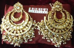 Big Chandbali's for all outfits by Auriga Indian Jewelry, Jewelery, Bling, Earrings, Outfits, Beauty, Fashion, Jewelry, Ear Rings