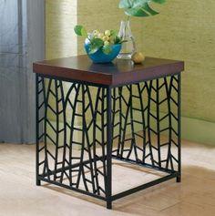 Foliage Iron End Table