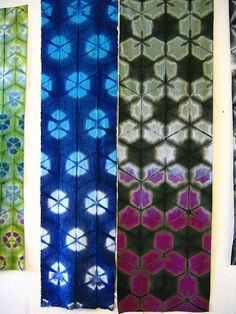 Amazing Shibori by Stephanie Grebel Sato |  via flickr |  Such wonderful work!