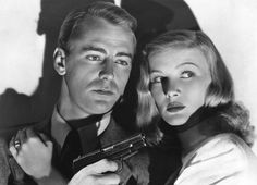 Alan Ladd and Veronica Lake in The Blue Dahlia. USA/1946