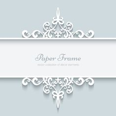 Lace ornament paper frame vector 02 - Vector Frames & Borders, Vector Ornament free download
