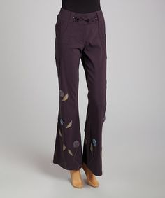 Love this Charcoal Floral Drawstring Lounge Pants - Women by CoVelo on #zulily! #zulilyfinds