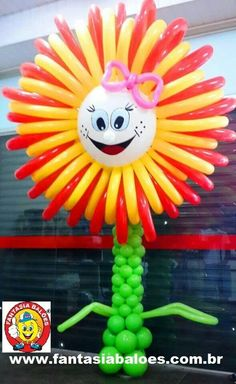 Cute balloon flower - #balloon #sculpting #flower