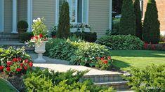 Aménagement paysager - Innovations Paysagées Ladouceur | Drummondville Plantation, View Source, Facade, Landscape, Architecture, Plants, Gardening, Image, Garage Entry