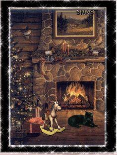 Christmas Fireplace (GIF)