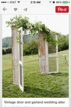 Simple Wedding Arbor could use any doors or louvers to create a backdrop