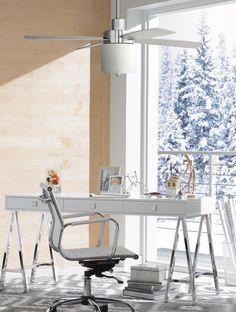 "52"" Casa Vieja® Embark Chrome LED Ceiling Fan"