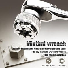 No More Trying To Find The Right Socket Size!Replacing Sockets Has Never Been So Easy!Mintiml Wrench was professionally designed to function much like traditional sockets but in a single convenient tool. Unlike restrictive pin-type sockets, it .