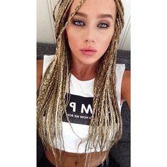 blonde hair plaits - Google Search White Girl Braids, Blonde Box Braids, Girls Braids, Blonde Hair, Small Braids, Micro Braids, Plaits Hairstyles, Hair Plaits, Hair Threading