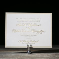 Chatsworth letterpress and foil wedding invitation by Amy Graham Stigler for Bella Figura. Customize yours with Paper Passionista.