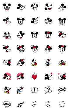 Add some Disney nostalgia to your messages with emoji featuring Mickey and Minnie's classic looks! Mickey Tattoo, Disney Tattoos, Mickey Mouse Tattoos, Mini Drawings, Cute Disney Drawings, Easy Drawings, Disney Doodles, Kawaii Doodles, Cute Doodles