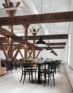 Image 2 of 23 from gallery of Octapharma Brewery / Joliark. Photograph by Torjus Dahl / Joliark Innovative Architecture, Contemporary Architecture, Interior Architecture, White Interior Design, Interior And Exterior, Industrial Light Fittings, Brewery Interior, White Wash Walls, Brewery Design