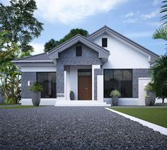 home by egmdesigns Modern Small House Design, Simple House Design, House Front Design, Minimalist House Design, Bungalow House Plans, Bungalow House Design, Dream House Plans, Modern House Plans, Modern House Facades