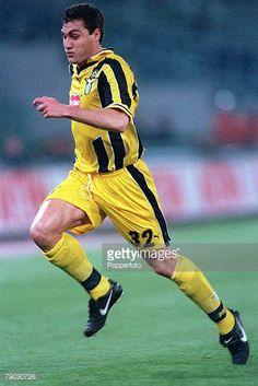 Football 1999 UEFA Cup Winners Cup SemiFinal Second leg Lazio 22nd April Lazio 0 v Lokomotiv Moscow 0 Lazio's Christian Vieri