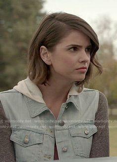 Malia's hooded denim jacket on Teen Wolf. Outfit Details: http://wornontv.net/50286/ #TeenWolf