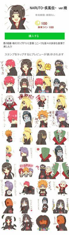 Akatsuki, Itachi, Kisame, Tobi, Deidara, Sasori, Zetsu, Pain, Konan, Hidan, Kakuzu, Nagato, Orochimaru, cute, chibi, text, funny; Naruto