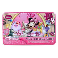 Minnie Mouse Bow-tique Puzzle Set [3 in 1 Puzzle]$14.99