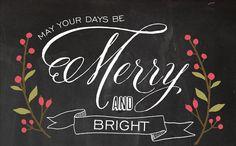 merry and bright | via NewBorrowedAndBlue Etsy Shop