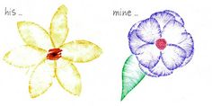 Make some Georgia O'Keeffe-inspired flowers by painting with markers and DIY petal stencils.