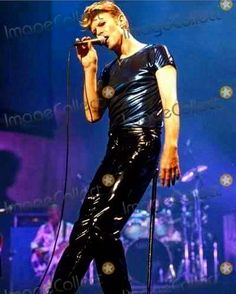 David Bowie and his fetishwear look