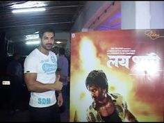 John Abraham spotted at the special screening of LAI BHARI.