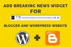 How to add Breaking News or Name Scrolling tab in Blogger and wordpress Website : Phonemania