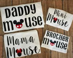 Mama Mouse Mini Mouse Daddy Mouse Brother by LittleJaneLaneDesign