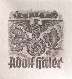 adolf hitler bookplate ex libris