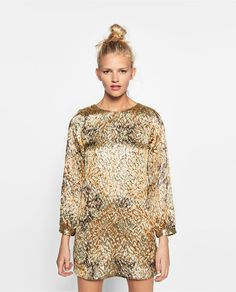 Image 1 of SHIMMER JACQUARD DRESS from Zara