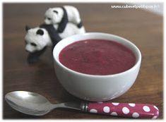 Soupe de betterave crapaudine, recette pour bébés - Cubes & Petits pois