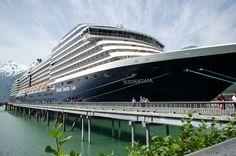 Holland America ms #Zuiderdam docked in Skagway