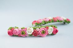 One Flowers hair clip  - polymer clay - wedding hair clip