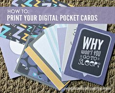 How to print digital project life cards