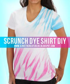 I will have to try this b\c I like the different effect  From: iLoveToCreate Blog: Scrunch Dye Shirt DIY