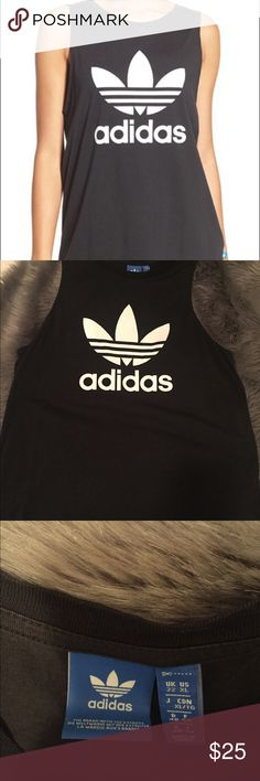 Adidas Tank Boyfriend Tri foil tank. Made to fit slightly loose. I️ do not trade. adidas Tops Tank Tops