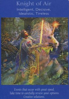 Angel Tarot Card - Knight of Air