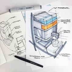 Скетч от @spimmons #industrialdesign #idustrial #ID #sketching #idsketching #product #productdesign #concept #sketch #designsketching #design #drawing #idea #скетчинг #скетч #скетчмаркерами #markerrendering
