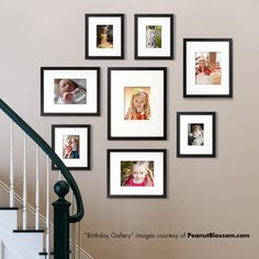 Easy Gallery frames -- store photos in back, easy to switch out photos.