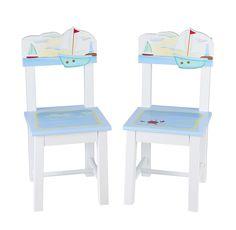 Sailing Kids 2 Piece Chairs Set