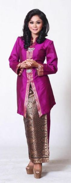 Modern Dress With Malaysian Bartique