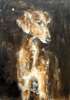 Azawakh on wood by Martial Robin Most Beautiful Dog Breeds, Beautiful Dogs, Skinny Dog, Whippets, Italian Greyhound, Doge, Dog Art, Cool Pictures, Contemporary Art