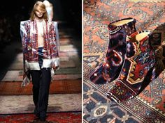 Maison Martin Margiela - Rugs On The Fashion Runway http://nazmiyalantiquerugs.com/blog/2012/08/carpet-fashion-wearing-rugs/