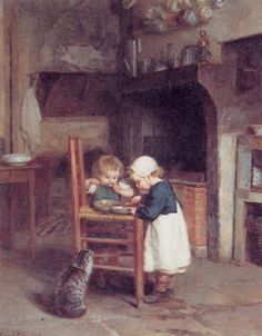 The frugal meal by Pierre Edouard Frère