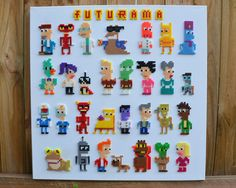 Futurama Perler Bead Art by MandogDesigns