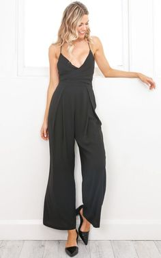 0d280ecf693 Breaking Free jumpsuit in black Produced By SHOWPO