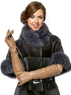 Gloves Fashion, 70s Fashion, Womens Fashion, Black Leather Gloves, Leather Jacket, Elegant Gloves, Long Gloves, Vintage Fur, Leather Fashion