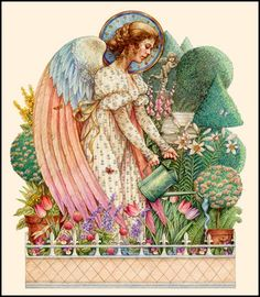 Serious Gardening Angel - Anne Yvonne Gilbert