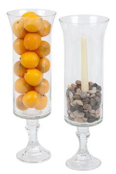 DIY glass hurricane vases