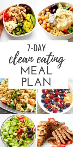 Clean Eating Challenge & Meal Plan (The First One Clean Eating Meal Plan, feat. Start the clean eating challenge, enjoy these healthy recipes to have more energy, lose weight and feel better overall! Clean Eating Challenge, Clean Eating Meal Plan, Clean Eating Lunches, 7 Day Challenge, Clean Dinners, Clean Gut Diet, Clean Eating Rules, Clean Foods, Good Healthy Recipes
